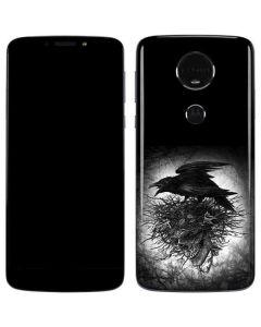 Crow and Skull Moto E5 Plus Skin