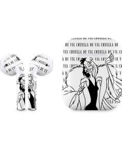 Cruella de Vil Black and White Apple AirPods Skin