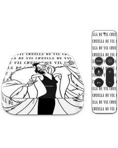 Cruella de Vil Black and White Apple TV Skin