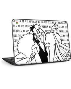 Cruella de Vil Black and White HP Chromebook Skin
