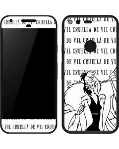 Cruella de Vil Black and White Google Pixel Skin