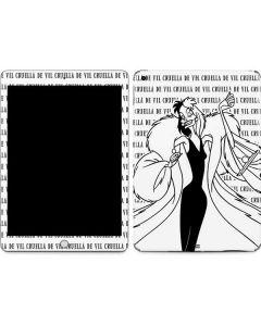 Cruella de Vil Black and White Apple iPad Skin