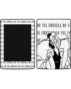 Cruella de Vil Black and White Amazon Kindle Skin