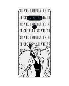 Cruella de Vil Black and White LG V40 ThinQ Skin