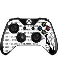 Cruella de Vil Black and White Xbox One Controller Skin