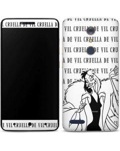 Cruella de Vil Black and White ZTE ZMAX Pro Skin