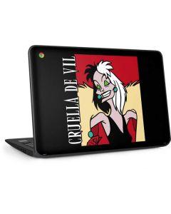 Cruella de Vil HP Chromebook Skin