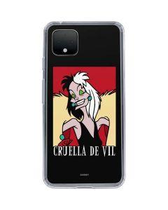 Cruella de Vil Google Pixel 4 XL Clear Case