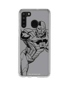 Cyborg Comic Pop Galaxy A21 Clear Case