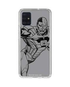 Cyborg Comic Pop Galaxy A71 Clear Case