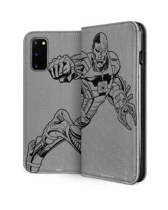 Cyborg Comic Pop Galaxy S20 Folio Case