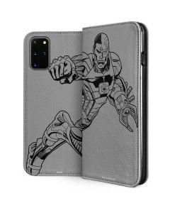 Cyborg Comic Pop Galaxy S20 Plus Folio Case