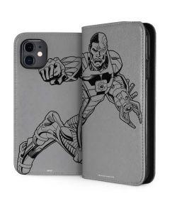 Cyborg Comic Pop iPhone 11 Folio Case