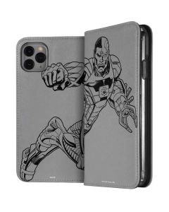 Cyborg Comic Pop iPhone 11 Pro Max Folio Case