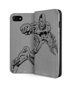 Cyborg Comic Pop iPhone SE Folio Case