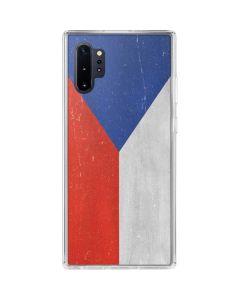 Czech Republic Flag Distressed Galaxy Note 10 Plus Clear Case