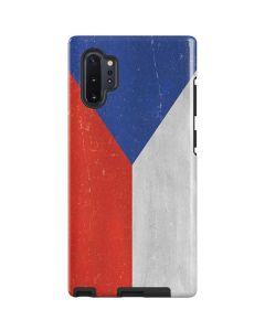 Czech Republic Flag Distressed Galaxy Note 10 Plus Pro Case
