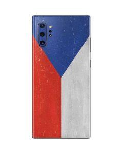 Czech Republic Flag Distressed Galaxy Note 10 Plus Skin