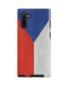 Czech Republic Flag Distressed Galaxy Note 10 Pro Case