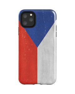Czech Republic Flag Distressed iPhone 11 Pro Max Impact Case