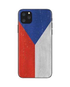 Czech Republic Flag Distressed iPhone 11 Pro Max Skin