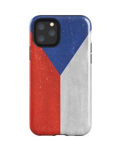 Czech Republic Flag Distressed iPhone 11 Pro Impact Case