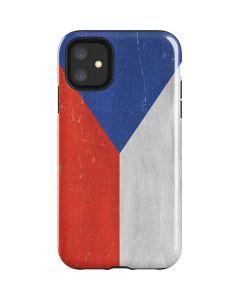 Czech Republic Flag Distressed iPhone 11 Impact Case