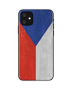 Czech Republic Flag Distressed iPhone 11 Skin