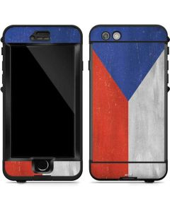 Czech Republic Flag Distressed LifeProof Nuud iPhone Skin