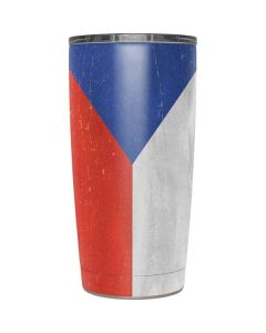 Czech Republic Flag Distressed Yeti 20oz Tumbler Skin