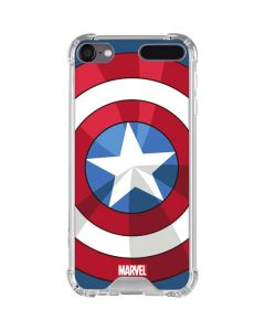 Captain America Emblem iPod Touch (5th-6th-7th Gen) Clear Case