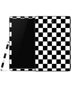 Black and White Checkered Samsung Galaxy Tab Skin