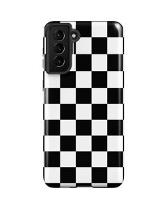 Black and White Checkered Galaxy S21 Plus 5G Case