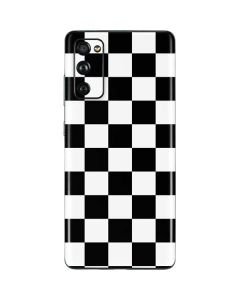 Black and White Checkered Galaxy S20 Fan Edition Skin