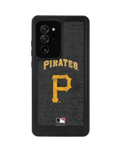 Pittsburgh Pirates - Solid Distressed Galaxy Note20 Ultra 5G Waterproof Case