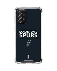 San Antonio Spurs Standard - Black Galaxy A72 5G Clear Case