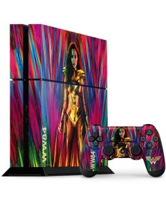 Wonder Woman Color Blast PS4 Console and Controller Bundle Skin