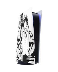 All Might and Deku Black And White PS5 Digital Edition Console Skin