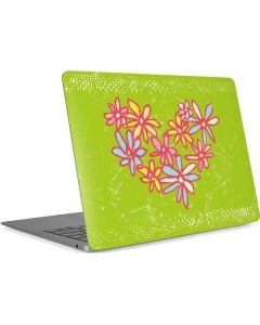 Daisy Heart Apple MacBook Air Skin