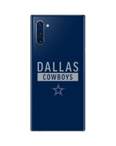 Dallas Cowboys Blue Performance Series Galaxy Note 10 Skin