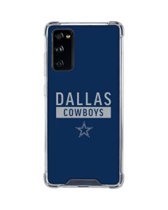 Dallas Cowboys Blue Performance Series Galaxy S20 FE Clear Case