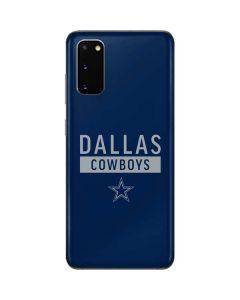 Dallas Cowboys Blue Performance Series Galaxy S20 Skin