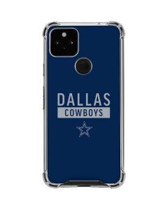 Dallas Cowboys Blue Performance Series Google Pixel 4a 5G Clear Case