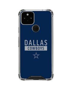 Dallas Cowboys Blue Performance Series Google Pixel 5 Clear Case
