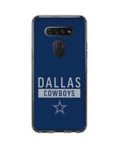 Dallas Cowboys Blue Performance Series LG K51/Q51 Clear Case
