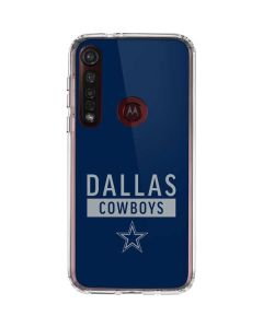 Dallas Cowboys Blue Performance Series Moto G8 Plus Clear Case