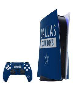 Dallas Cowboys Blue Performance Series PS5 Bundle Skin