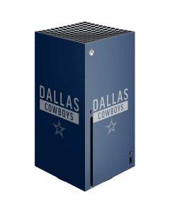 Dallas Cowboys Blue Performance Series Xbox Series X Console Skin