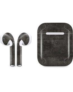 Dark Iron Grey Concrete Apple AirPods Skin