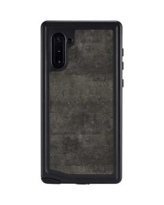 Dark Iron Grey Concrete Galaxy Note 10 Waterproof Case